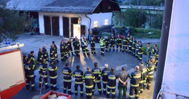 Gemeinschaftsübung mit der Feuerwehr Stockenboi