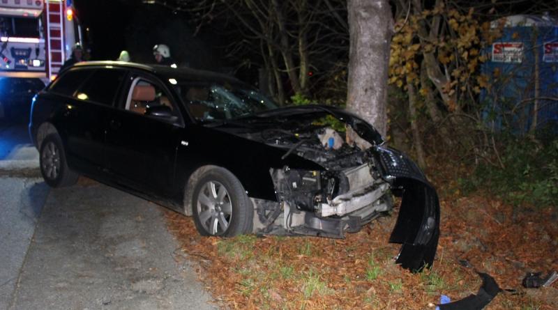 Verkehrsunfall: PKW gegen Baum geprallt