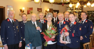 Glückwünsche zum 80er für Altkamerad Herbert Egger