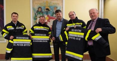 Neue Schutzbekleidung für die Spittaler Feuerwehren