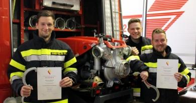 Drei neue Maschinisten für die Feuerwehr Olsach-Molzbichl