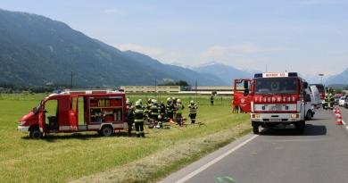 Verkehrsunfall B100