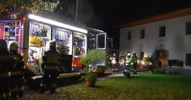 Gemeinschaftsübung der Feuerwehren Olsach-Molzbichl und Stockenboi