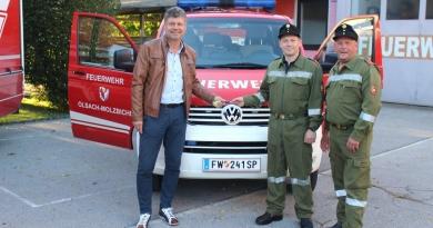 Mannschaftstransportfahrzeug für die Feuerwehr Olsach-Molzbichl