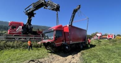 Schwerer Verkehrsunfall PKW gegen LKW